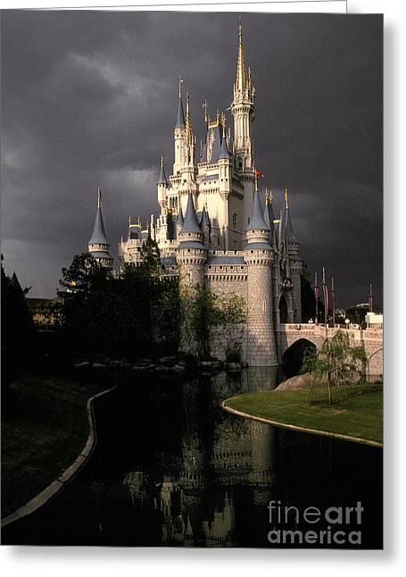 Fantasy World Greeting Cards - Cinderellas Castle, Walt Disney World Greeting Card by Ron Sanford