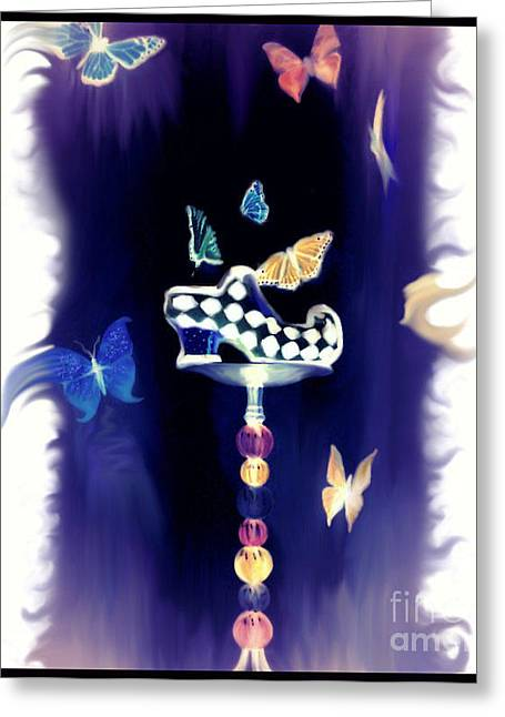 Photomanip Greeting Cards - Cinderellas Shoe Greeting Card by Angie Staft