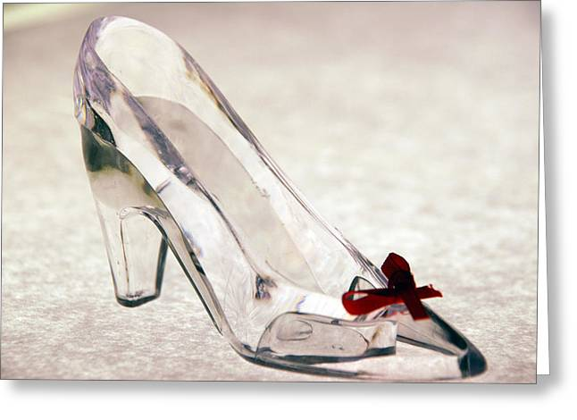 Clear Shoes Greeting Cards - Cinderellas Slipper Greeting Card by Beverly Stapleton