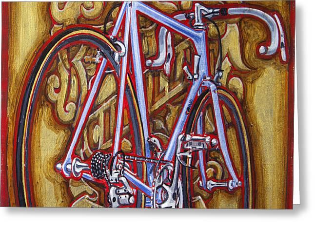 Cinelli Laser bicycle Greeting Card by Mark Howard Jones