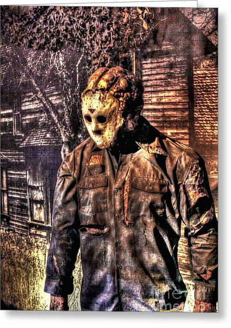 Jason Voorhees Greeting Cards - Cinema Genre Icons - Jason Greeting Card by Dan Stone