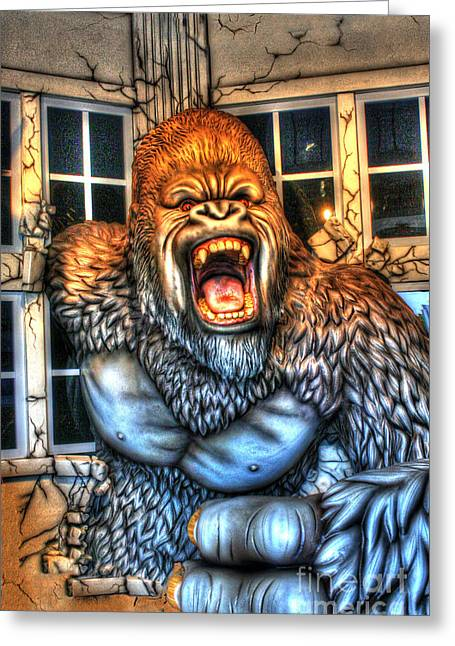 Wray Greeting Cards - Cinema Genre Icons - Kong Greeting Card by Dan Stone
