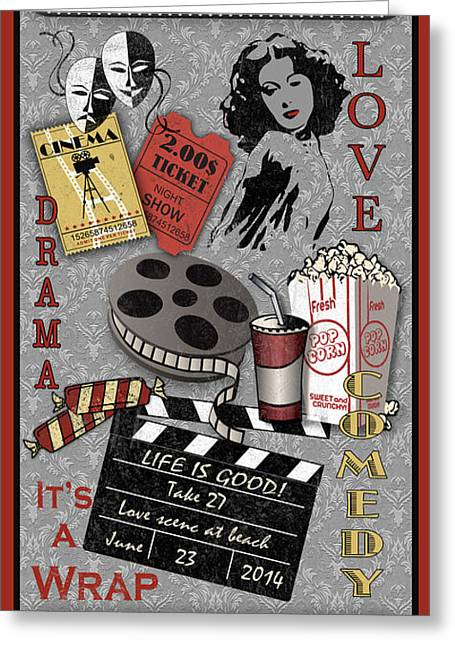 Home Theatre Greeting Cards - Cinema-JP2214 Greeting Card by Jean Plout