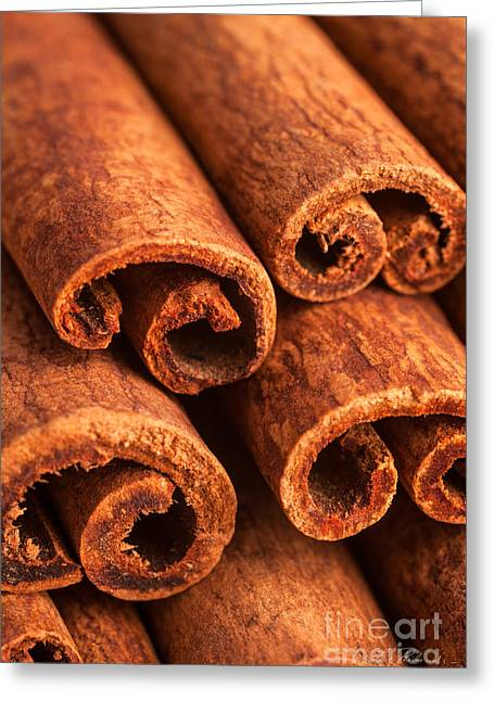 Commercial Photography Greeting Cards - Cinnamon - Cinnamomum Greeting Card by Iris Richardson