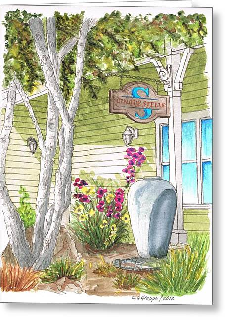 Tasting Rooms California Greeting Cards - Cinque Stelle Wines in Los Olivos - California Greeting Card by Carlos G Groppa