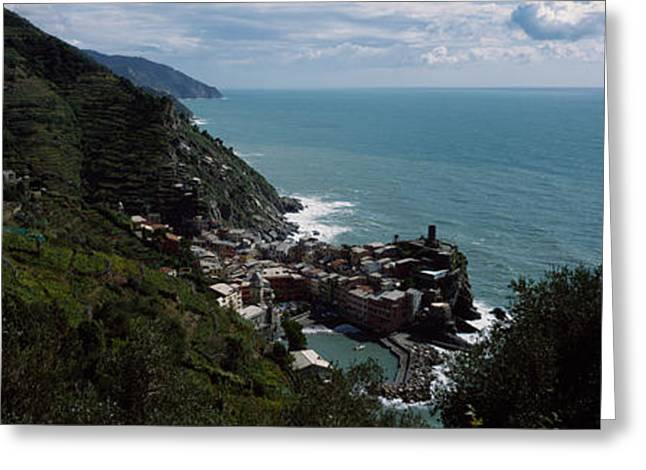Cinque Terre Italian Riviera Vernazza Greeting Card by Panoramic Images