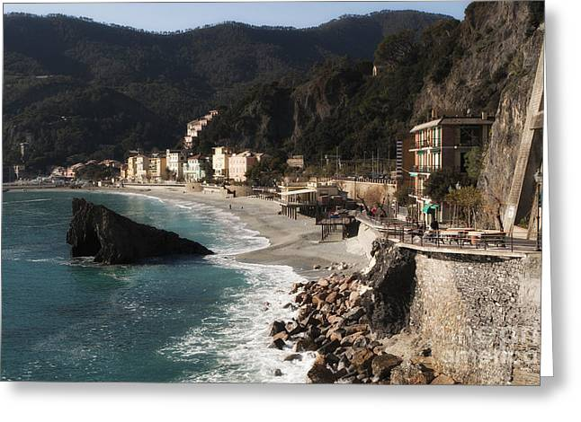Cinque Terre Greeting Card by Leslie Leda