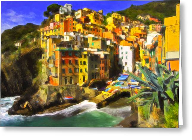 Colorful Village Greeting Cards - Cinque Terre Greeting Card by Michael Pickett