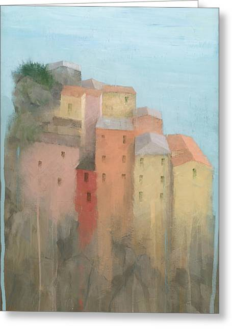 Acrylic Art Greeting Cards - Cinque Terre Greeting Card by Steve Mitchell