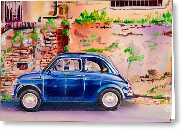 Topple Greeting Cards - Cinquecento Greeting Card by Marco Ippaso