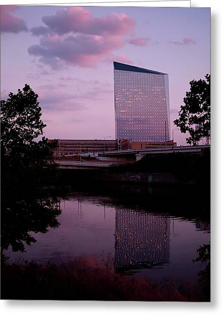 Modern Architecture Greeting Cards - Cira Centre Greeting Card by Rona Black