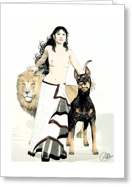 Hallucination Greeting Cards - Circe - Homers Odyssey by Quim Abella Greeting Card by Joaquin Abella
