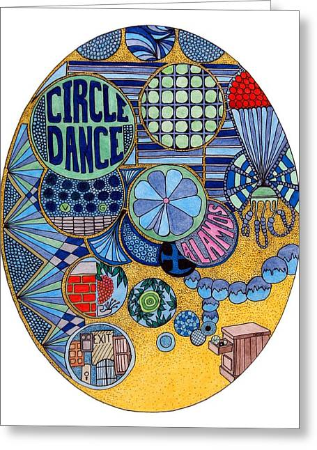 Circle Dance Greeting Card by Gregory Carrico