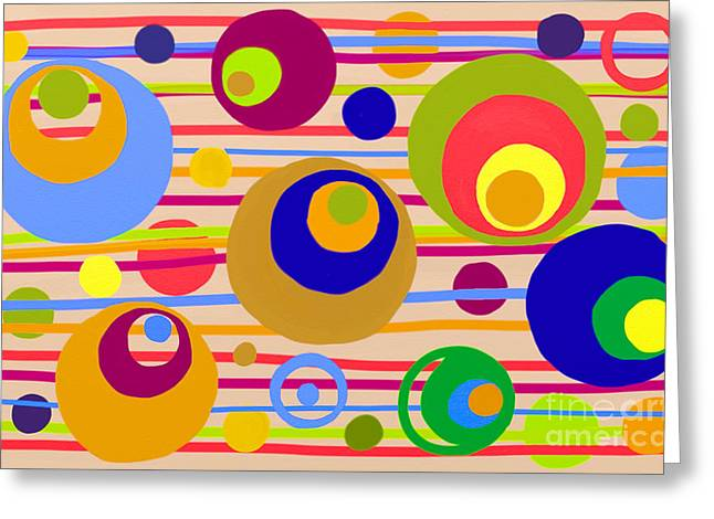 Circle Fun Greeting Card by Anita Lewis