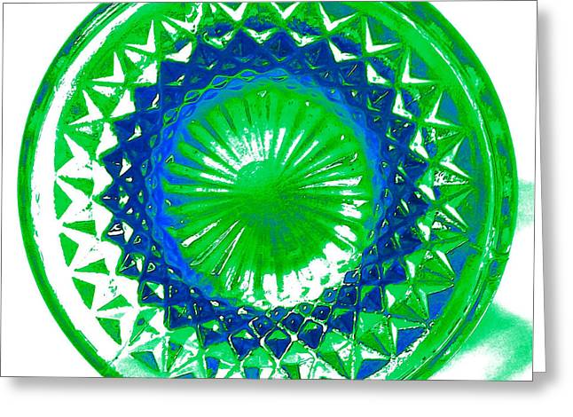 Blank Greeting Cards Mixed Media Greeting Cards - Circle Green Greeting Card by Anita Lewis