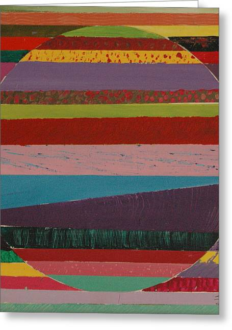 Avis Greeting Cards - Circle In Stripes Greeting Card by Avis Fox