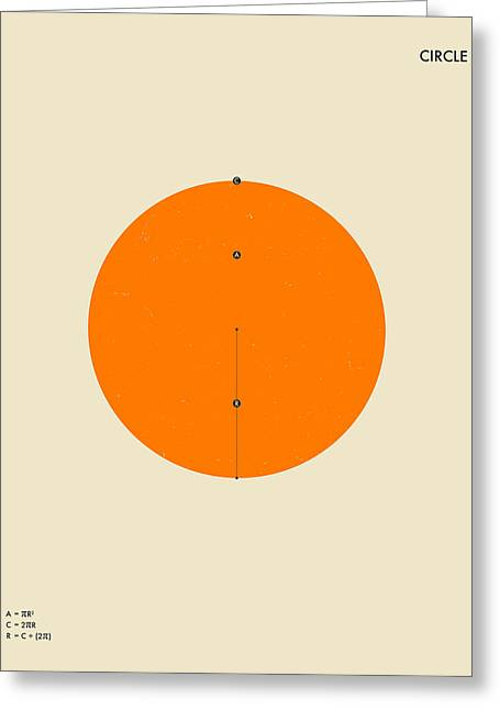Geometric Art Greeting Cards - Circle Greeting Card by Jazzberry Blue