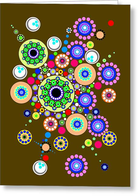 Optical Art Greeting Cards - Circle Motif 254 Greeting Card by John F Metcalf