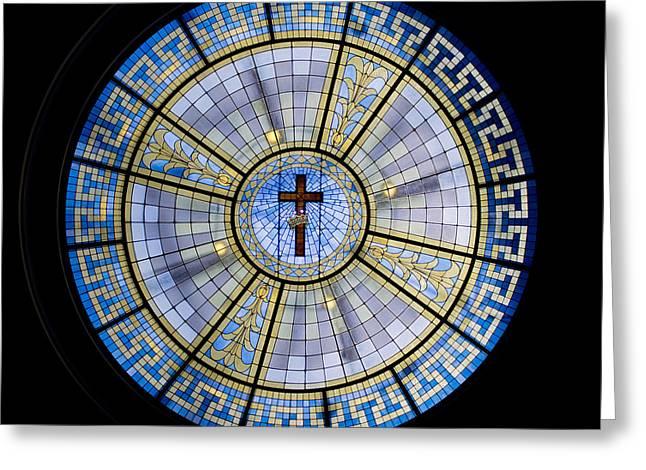Circle Of Christ Greeting Card by Dee  Savage