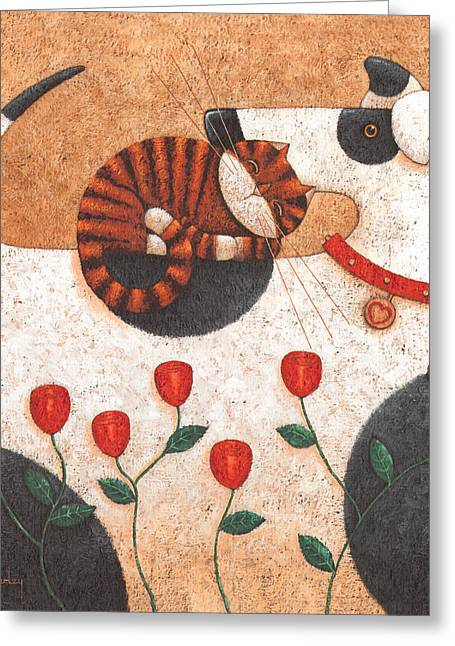 Animals Love Greeting Cards - Circle Of Friends Greeting Card by Peter Adderley