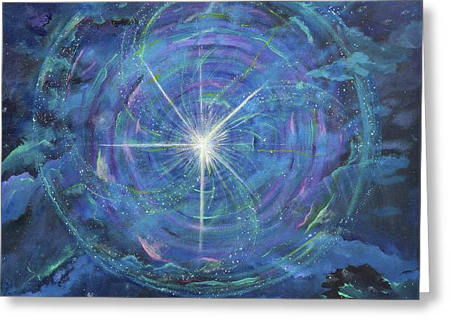 Beyond Measure Greeting Cards - Circle of Growth Greeting Card by Judy M Watts-Rohanna