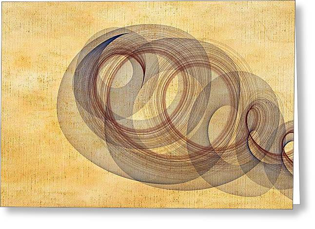 Circle Of Life Greeting Card by Marian Palucci-Lonzetta