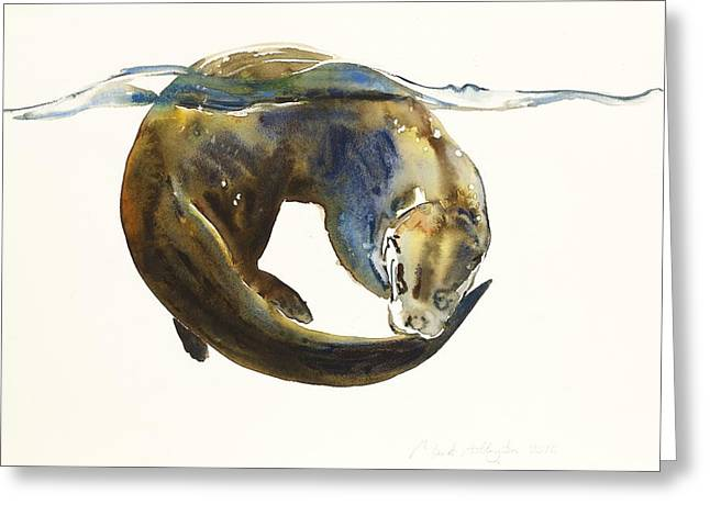 Watercolour Paintings Greeting Cards - Circle of life Greeting Card by Mark Adlington