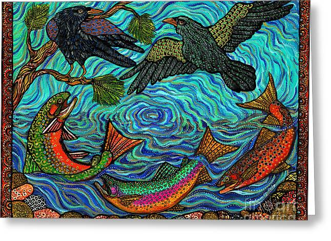 Cole Paintings Greeting Cards - Circle of Life Greeting Card by Melissa Cole
