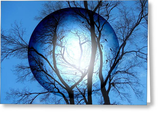 Abstract Orbs Greeting Cards - Circle Of Love Greeting Card by Bobbie Barth