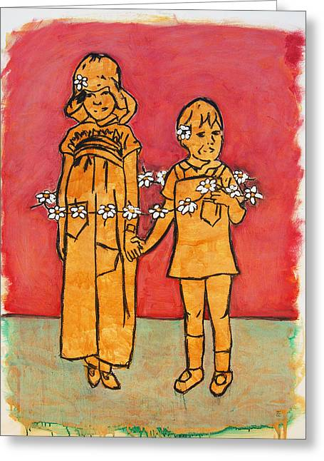 Sisterly Greeting Cards - Circle of Love Greeting Card by Felicity Kelly-Cruise