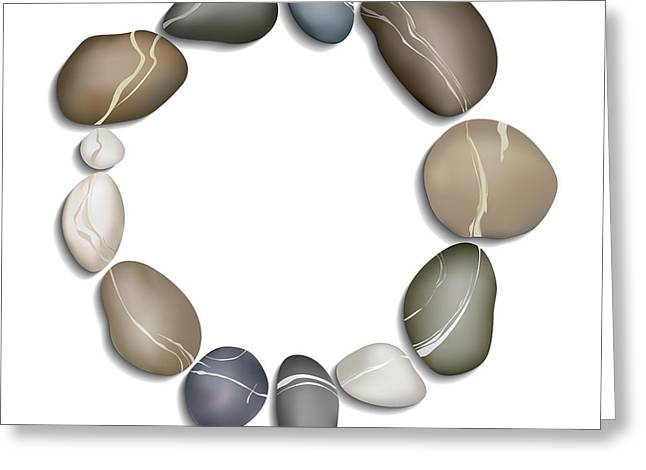 Circle Of Pebbles Greeting Card by Fenton Wylam