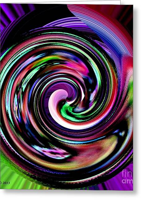 Ying Greeting Cards - Circle Of Positive Energy Abstract Art Greeting Card by Annie Zeno