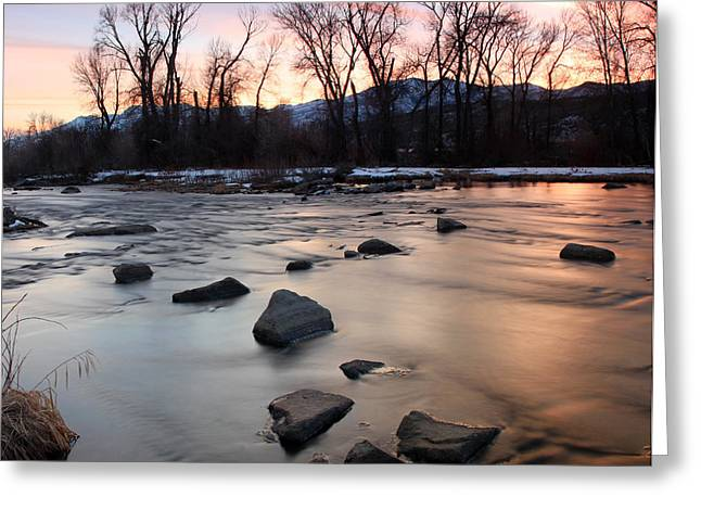 Amazing Sunset Greeting Cards - Circle of stones Greeting Card by Johnny Adolphson