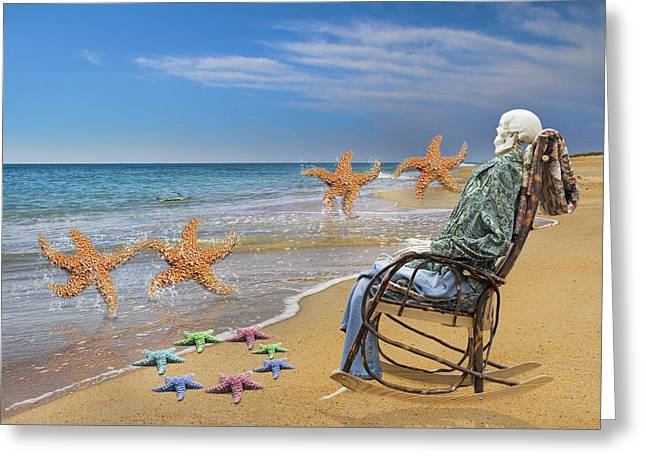 Seastar Greeting Cards - Circle of Trust Greeting Card by Betsy A  Cutler