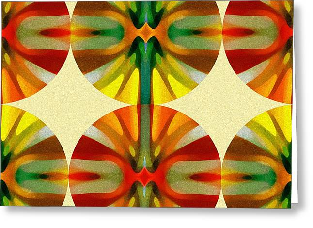 Abstracts Greeting Cards - Circle Pattern 1 Greeting Card by Amy Vangsgard