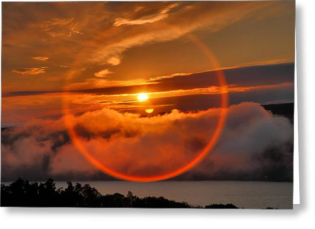 Keuka Greeting Cards - Circle Round The Sun Greeting Card by Steven Ainsworth