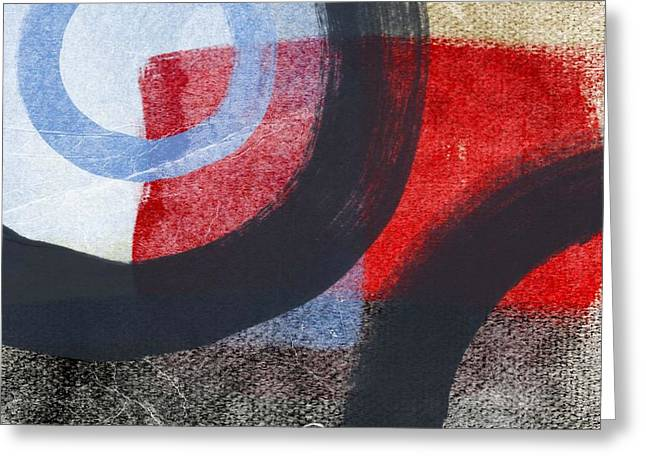 Abstract Art Greeting Cards - Circles 1 Greeting Card by Linda Woods