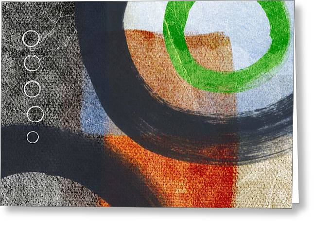 Urban Mixed Media Greeting Cards - Circles 2 Greeting Card by Linda Woods