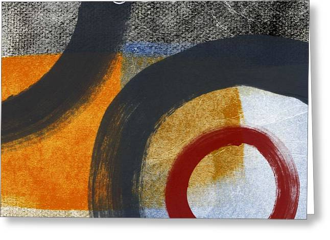 Abstract Modern Greeting Cards - Circles 3 Greeting Card by Linda Woods