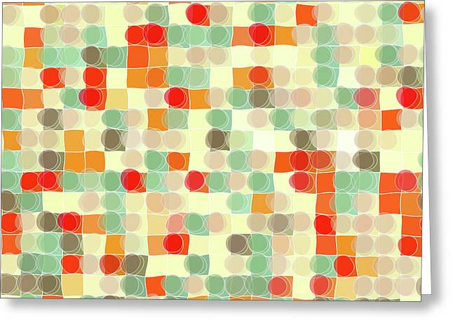 Giant Art Greeting Cards - Circles and Squares 12. Modern Decor Collection Greeting Card by Mark Lawrence