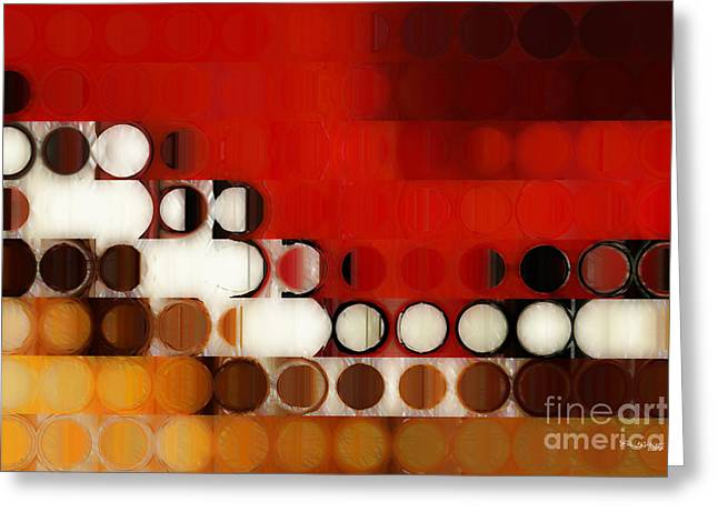 Decorator Series Greeting Cards - Circles and Squares 17. Modern Fine Art Greeting Card by Mark Lawrence