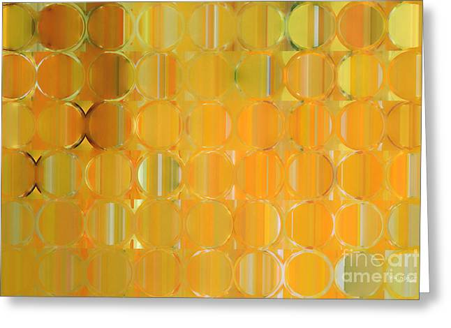 Decorator Series Greeting Cards - Circles and Squares 19. Big Painting Modern Abstract Fine Art Greeting Card by Mark Lawrence