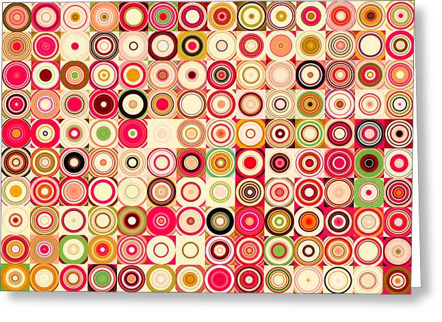 Decorator Series Greeting Cards - Circles and Squares 21. Modern Abstract Fine Art Greeting Card by Mark Lawrence