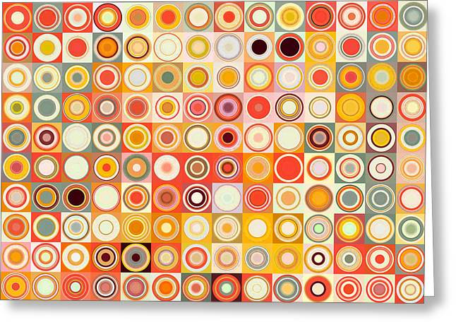 Decorator Series Greeting Cards - Circles and Squares 26. Modern Abstract Fine Art Greeting Card by Mark Lawrence