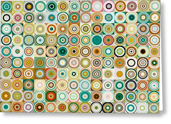 Decorator Series Greeting Cards - Circles and Squares 28. Modern Abstract Fine Art Greeting Card by Mark Lawrence