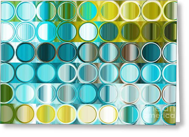 Decorator Series Greeting Cards - Circles and Squares 32. Modern Abstract Fine Art Greeting Card by Mark Lawrence