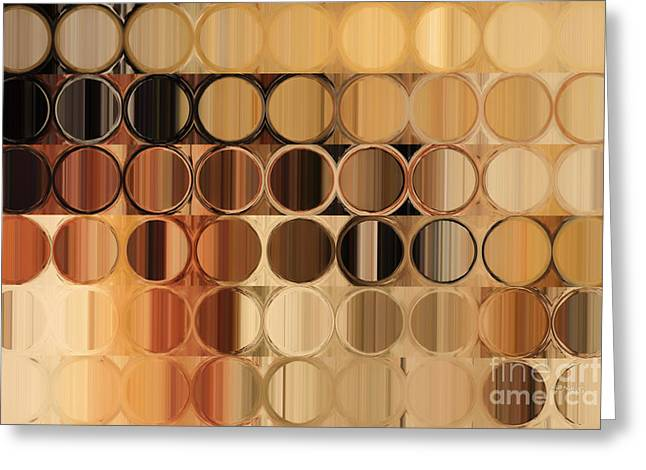 Interior Decorators Greeting Cards - Circles and Squares 39. Modern Abstract Fine Art Greeting Card by Mark Lawrence