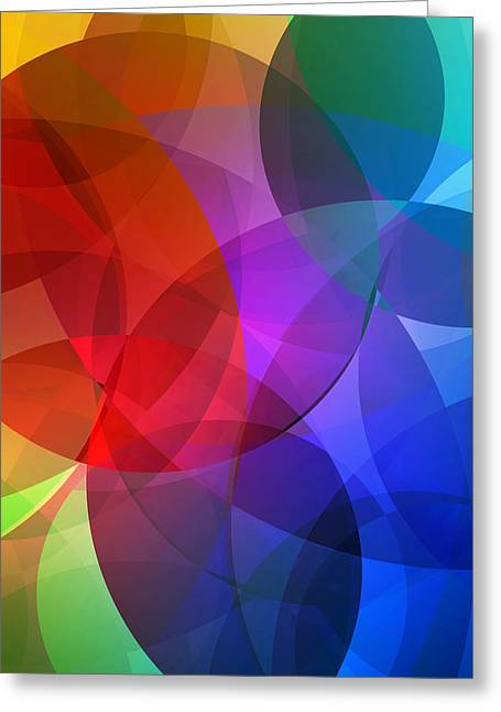 Abstract Shapes Greeting Cards - Circles in Colorful Abstract Greeting Card by Design Turnpike