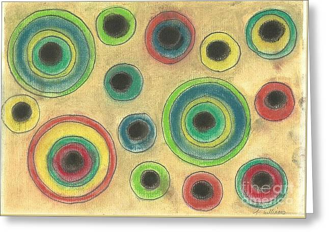 Circle Pastels Greeting Cards - Circles in the sand Greeting Card by Tracey Williams