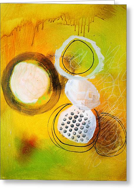 Dribble Greeting Cards - Circles Greeting Card by Nancy Merkle